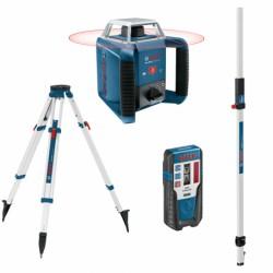 Nivelă laser rotativă Bosch GRL 400 H + LR1 + BT 160 + GR 240
